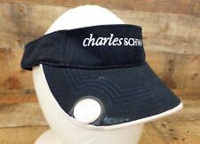 Charles Schwab Sun Visor Hat Cap Golf Ball Marker Stock Market Adjustable Blue