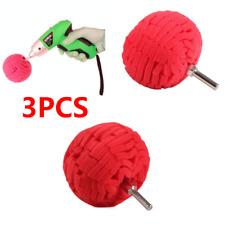 "3Pcs Red 3"" Buffing Ball Sponge Finishing Buff Polishing Pad For Car Polishing"
