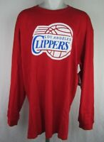 Los Angeles Clippers Big & Tall Men's Majestic Red 3XLT Long Sleeve T-Shirt NBA