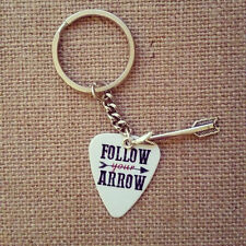Follow your arrow wherever it points guitar pick keychain with arrow charm cute