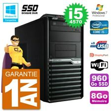 PC Acer Veriton M4630G MT i5-4570 RAM 8Go SSD 960Go Graveur DVD Wifi W7