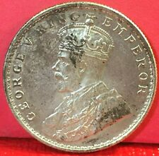 1919 BRITISH INDIA GEORGE V ONE RUPEE SILVER COIN