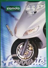 SIAMOTO FAVORITE 125 150  MOTO DEPLIANT BROCHURE PROSPEKT RECLAME