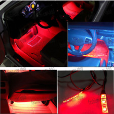 DIY 3-SMD 5050 Ultra Red LED Strip Light For CAR Glove Box Cup Holder Foot Area