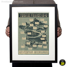 Tour DE FRANCE 1949 GRAND TOUR VINTAGE CICLISMO ROUTE MAP VELO poster stampati