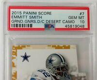 PSA 10 EMMITT SMITH DALLAS COWBOYS 2015 SCORE DESERT CAMO NFL FOOTBALL CARD HOF