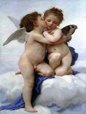 First kiss angels by W. Bouguereau Tile Mural Kitchen Backsplash Marble Ceramic