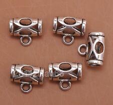 10pcs Tibetan silver charm hollow necklace Connectors Bails Beads 13mm B3058