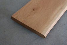 Fensterbank Eiche Massiv Holz mit Baumkante Fensterbrett Brett Bohle NEU Ablage