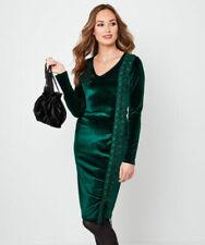 Green Long Sleeve Velvet Dresses for Women