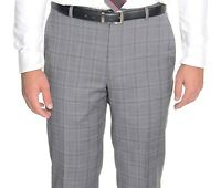 $135 Alfani RED Gray Plaid Slim Fit Wool Blend Stretch Pre-hemmed Dress Pants