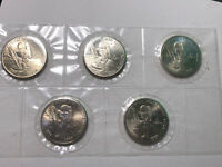 1989 Republic of the Marshall Islands First Men on The Moon $5 Comm. 5 Coins