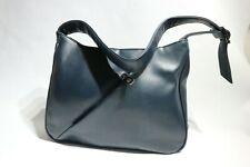 GIONNI Ladies Handbag Shoulder Bag Navy Blue Faux Leather Adjustable Strap