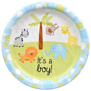 It's a Boy Animal Theme Baby Shower Party Kit For 36 Guests