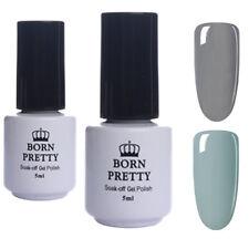 2Pcs 5ml Nail UV Gel Polish Varnish Soak Off UV/LED Nail Art Gray BORN PRETTY