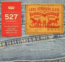 Levis 527 Jeans Mens New Slim Boot Cut Size 36 x 32 BLUE STONE Levi's NWT #023