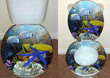 Designer Novelty Printed Toilet Seat - Fish / Star Fish Aquarium Design