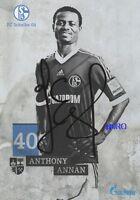 Anthony ANNAN + FC Schalke 04 + Saison 2013/2014 + Original Autogrammkarte