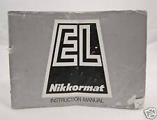 Nikon Nikkormat El Original Camera Instruction Manual