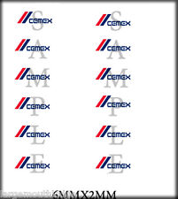 BOLEY VEHICLE MODEL DOOR DECALS 1/87 CEMEX 6MM X 2MM