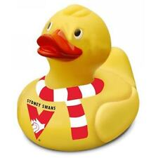 AFL SYDNEY SWANS FLOATING RUBBER DUCK FOR BATH  OR GIFT PRODUCT KIDS OR ADULTS