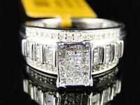 10K Gold Womens Princess Cut Diamond Engagement Bridal Wedding Band Ring 0.50 Ct