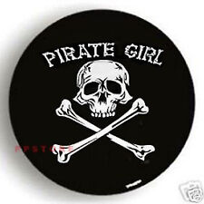 "PIRATE GIRL SPARE TIRE COVER 26.5""-28.5""  R15 NEW SKULL ZW1018G3"