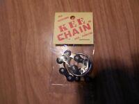 The Original KEE CHAIN Old School BMX Key Chain NOS * L@@K * Blue & Chrome
