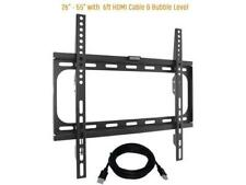 """KORAMZI Fixed TV Wall Mounts Bracket Fits 26-55"""" TV's & 6 ft. HDMI Cable- New"""