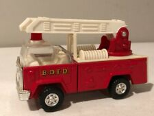 Metal B.D.F.D. Fire Engine Made In Hong Kong, Red