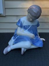 Vintage B&G Royal Copenhagen Figure, Girl With Doll, #1526 Retired
