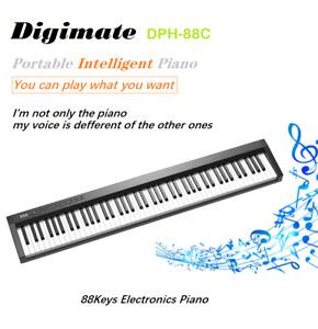 Digimate Wireless 88 Keys Portable Electronic Digital Piano Bluetooth Keyboard