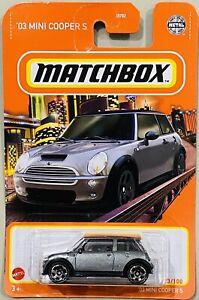 Matchbox '30 Mini Cooper S Silver 2021 New Release