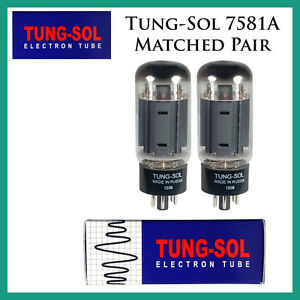 New 2x Tung-Sol 7581A | Matched Pair / Duet / Two Tubes | Free Ship