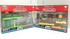 *Nintendo Super Mario Bros U Micro Acorn Plains+Layer Cake Desert DELUXE PACK