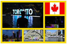TORONTO, CANADA - SOUVENIR NOVELTY FRIDGE MAGNET - SIGHTS / FLAGS / NEW / GIFTS