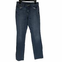 Levis Womens Blue Straight Leg Mid Rise Regular Denim Jeans Size 6