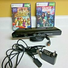 XBOX 360 Kinect Sensor Bar with Power Adapter and two Games
