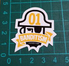 BANDIT1SM STICKER-123 Klan-Bandit1$M- 4x4cm -STREET ART-PEGATINA-DECAL- GRAFFITI