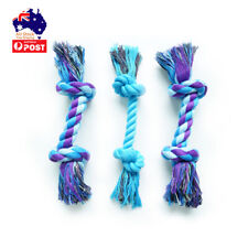 3 Pcs Dog Puppy Rope Toys Pet Chew Toy Gift Durable Cotton Knots Dog Teeth Clean