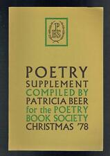 Beer, Patricia; Poetry Supplement Christmas 1978 VG