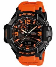 Casio G-Shock Black Orange Watch Gravitymaster Analogue Digital GA-1000-4A