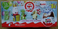 ORIGINAL PACKED BOX WITH 3 KINDER FERRERO SURPRISE EGGS 40 YEARS CELEBRATION SLO