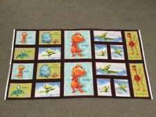 Dinosaur Train Fabric Panel Boy Quilting Squares Character Quilt Blocks Material
