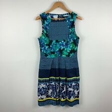 CUE In The City Womens Dress Size 12 Multicoloured Floral Abstract Sleeveless