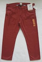 Dockers Slim Tapered Pants Mens Size 38x30 Brown Stretch Flat Front