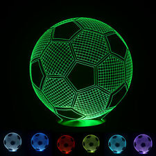 Football Soccer Ball 3D 7Colors Night Light Touch Table Desk LED Lamp Xmas Gift