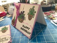Birthday Card For A Favorite Lavender Satin Ribbon Hand Inked  Personalized Free