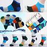 5 Pairs Men's Sport Cotton Socks Ankle Sock Colored Stripe Sock