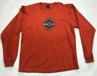 Mens Bellagio Las Vegas Long Sleeve Crew Neck T shirt SIZE XL Orange